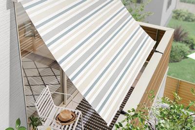 「日差しが暑い 」 を解決 ! 熱を外で遮って室内温度の上昇を抑えるスタイルシェード