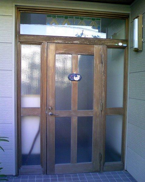 古くなった玄関 施錠にも不安が