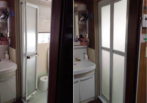 毎日使う浴室ドアを簡単リフォーム ! 清潔で安心なお風呂へ