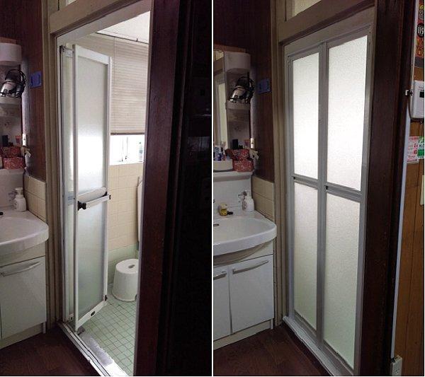 新しくなった浴室のドア