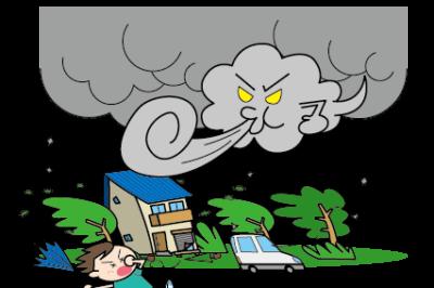 大型台風への備え ! 自宅でできる窓ガラスの飛散を防ぐ方法 !