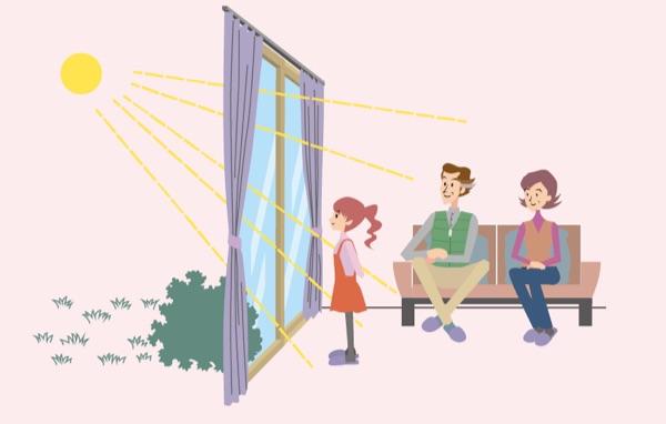 太陽の熱を取り込む窓へ