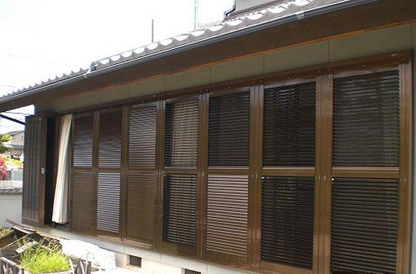 ルーバー雨戸・ガラリ雨戸への交換【リフォーム後】