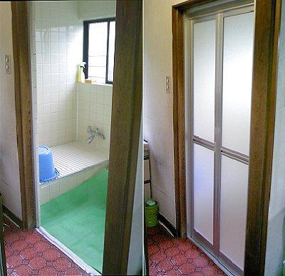 浴室ドアリフォーム事例