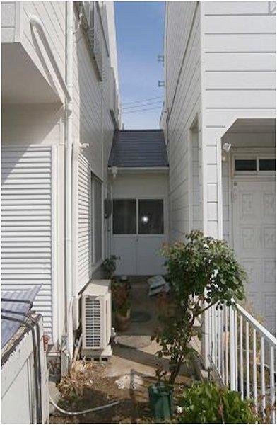 二世帯住宅の屋外収納スペース