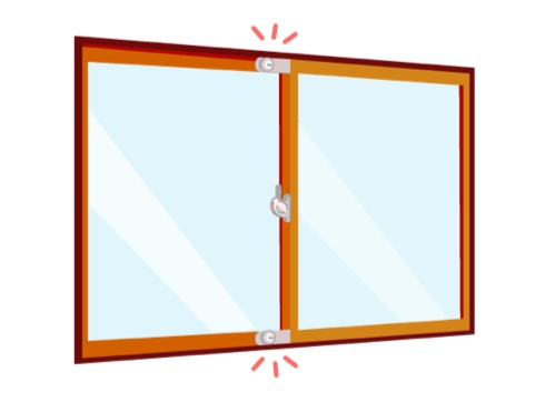 窓に補助錠で侵入盗対策
