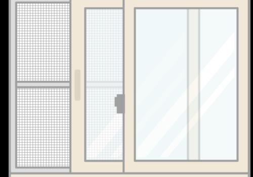店舗のドア・事務所の窓にも網戸を取り付けていつでも換気 !