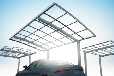 台風シーズンの前にカーポートの屋根も点検を !