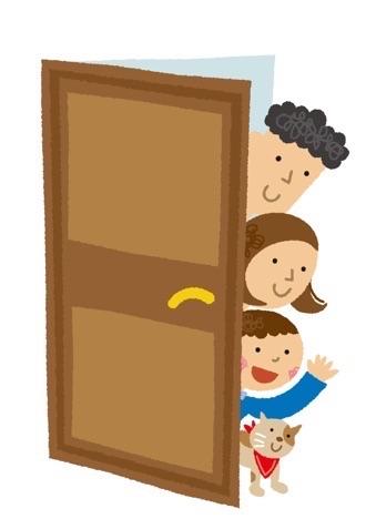 ドアを引き戸から開き戸へ 玄関リフォーム