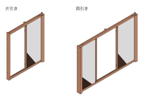 事務所や店舗の自動ドアに網戸を取り付けたイメージ