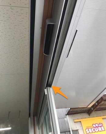 事務所・店舗の自動ドアに網戸を取り付け