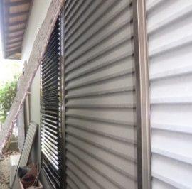 通風できるエコ雨戸 雨戸板1枚から交換できます
