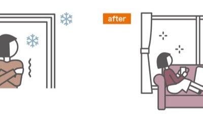 冬の窓辺が寒いを解決 窓を断熱する方法