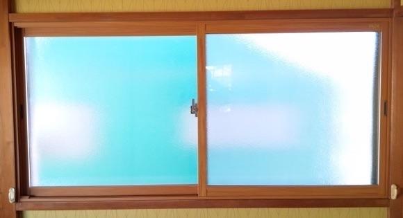 内窓取り付け後の窓