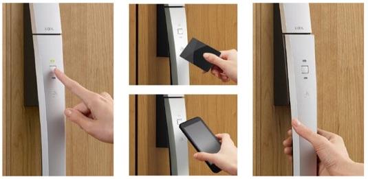 ボタンやカードの玄関キーでもっと便利に安心に