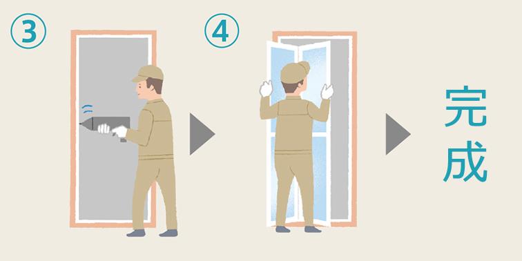 浴室ドアのカバー工法
