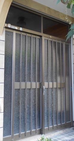 新しい玄関引戸へ交換リフォーム