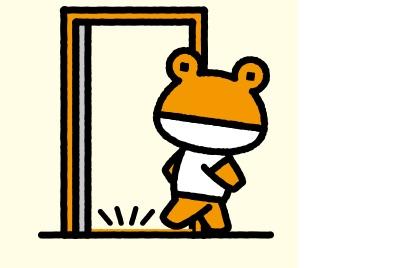 玄関引き戸にも後付けで網戸を設置