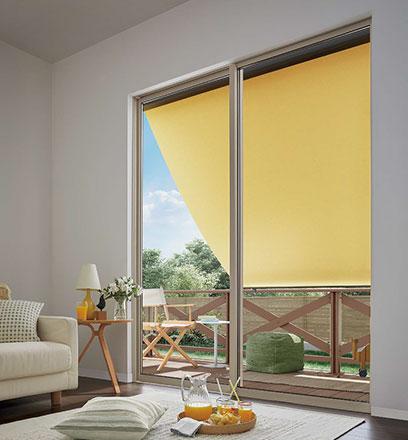 LIXILスタイルシェード 外付け日よけ 室内熱中症対策