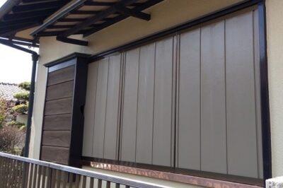 木製雨戸パネルを、断熱タイプの雨戸へ交換リフォーム