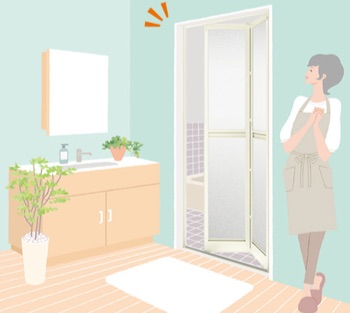 浴室ドアの交換リフォーム