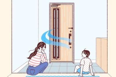 玄関を採風ドアにして、家の中全体をいつでも換気